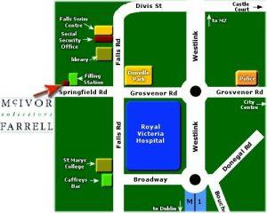 belfast solicitor mcivor farrell map